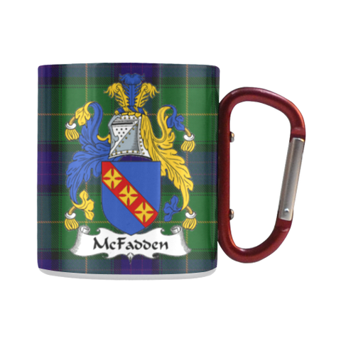 McFadden Tartan Mug Classic Insulated - Clan Badge | scottishclans.co
