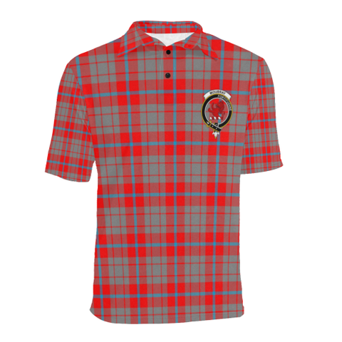 Moubray Tartan Clan Badge Polo Shirt HJ4