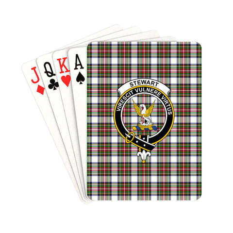 Stewart Dress Modern Tartan Clan Badge Playing Card | scottishclans.co
