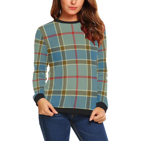 Balfour Blue Tartan Crewneck Sweatshirt TH8