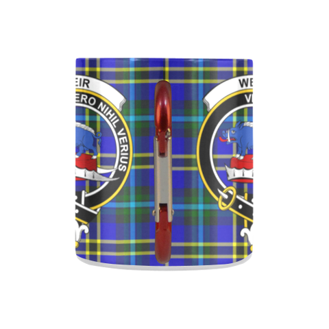 Weir Modern Tartan Mug Classic Insulated - Clan Badge K7
