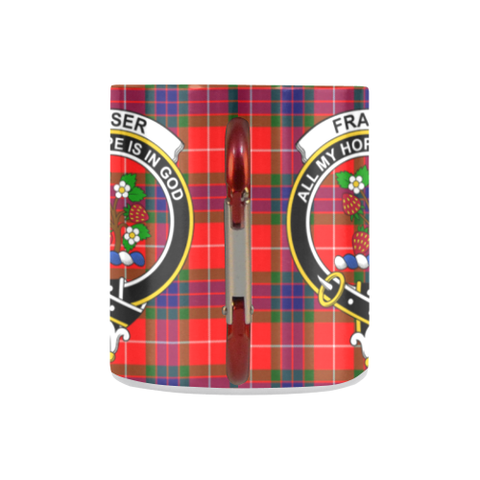 Fraser Of Lovat Tartan Mug Classic Insulated - Clan Badge K7