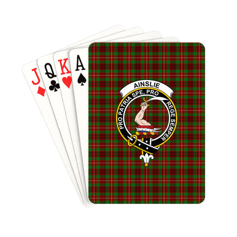 Ainslie Tartan Clan Badge Playing Card | scottishclans.co