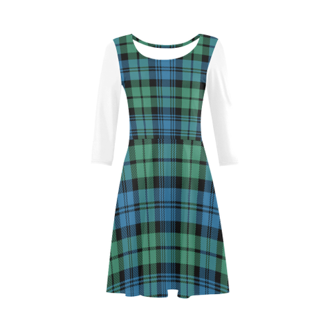 Campbell Ancient 01 Tartan 3/4 Sleeve Sundress | Exclusive Over 500 Clans