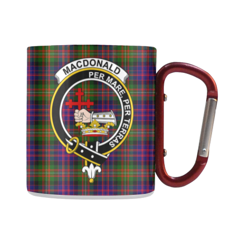 Image of Macdonald Tartan Mug Classic Insulated - Clan Badge | scottishclans.co