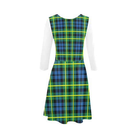 Campbell of Breadalbane Ancient Tartan 3/4 Sleeve Sundress | Exclusive Over 500 Clans
