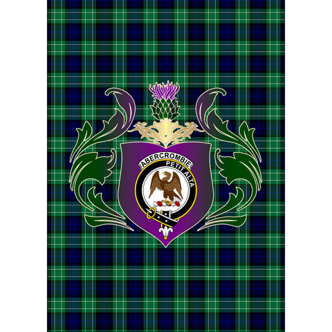 Abercrombie Clan Garden Flag Royal Thistle Of Clan Badge