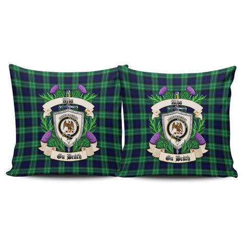 Abercrombie Crest Tartan Pillow Cover Thistle (Set of two) A91 | Home Set