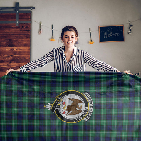 Image of Abercrombie Crest Tartan Tablecloth | Home Decor