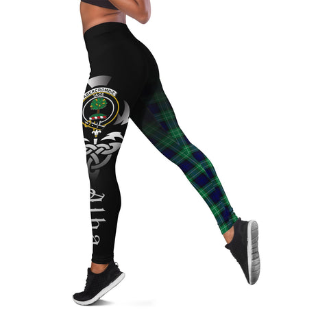 Abercrombie Crest Tartan Alba Celtic Leggings | Over 500 Tartans | Special Custom Design