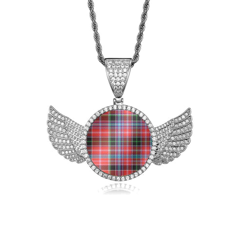 Aberdeen District Wings Necklace (Gold/White Gold) A7