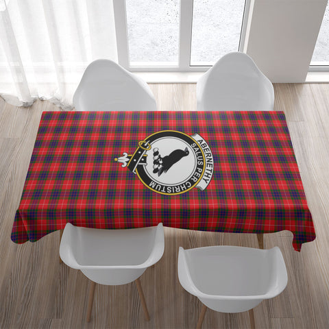 Image of Abernethy Crest Tartan Tablecloth | Home Decor