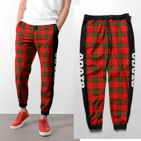 Adair - Tartan All Over Print Sweatpants - BN