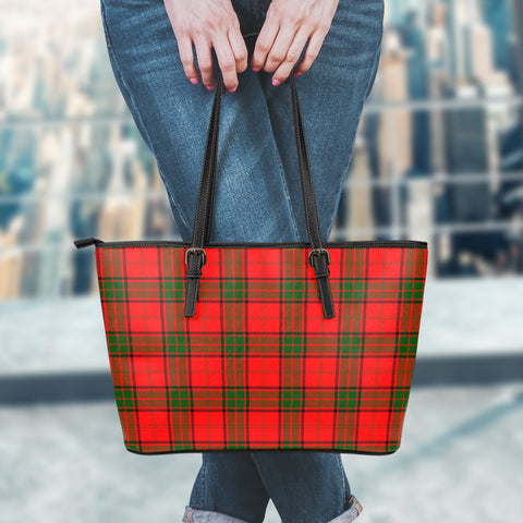 Adair Tartan Leather Tote Bag (Small) | Over 500 Tartans | Special Custom Design