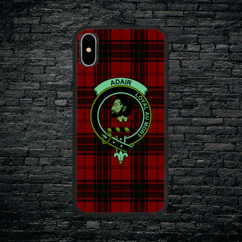 Adair Tartan Clan Badge Luminous Phone Case IPhone X