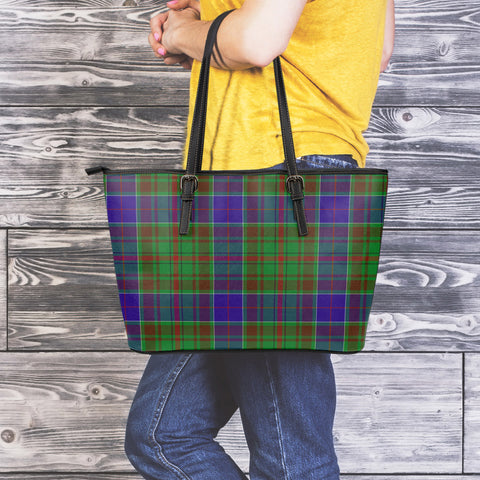 Image of Adam Tartan Leather Tote Bag (Large) | Over 500 Tartans | Special Custom Design