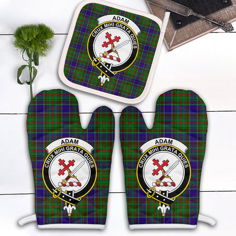 Adam Clan Crest Tartan Scotland Oven Mitt And Pot-Holder (Set Of Two)
