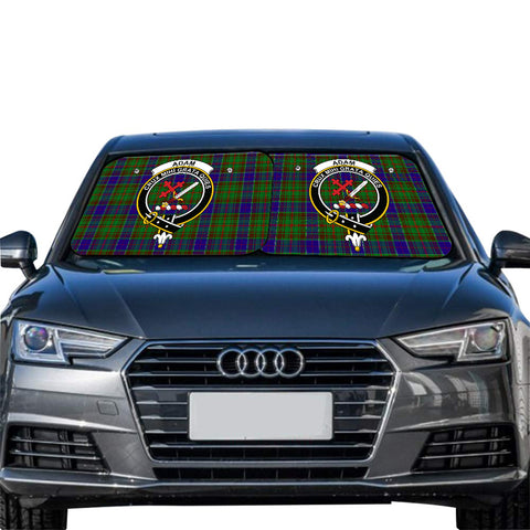 Adam Clan Crest Tartan Scotland Car Sun Shade 2pcs