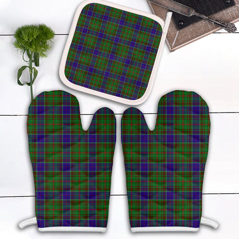 Adam Clan Tartan Scotland Oven Mitt And Pot-Holder (Set Of Two)