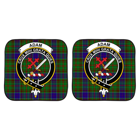Adam Clan Crest Tartan Scotland Car Sun Shade 2pcs K7