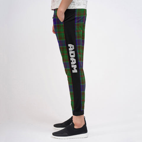 Adam - Tartan All Over Print Sweatpants - BN