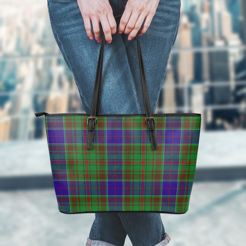 Adam Tartan Leather Tote Bag (Large) | Over 500 Tartans | Special Custom Design