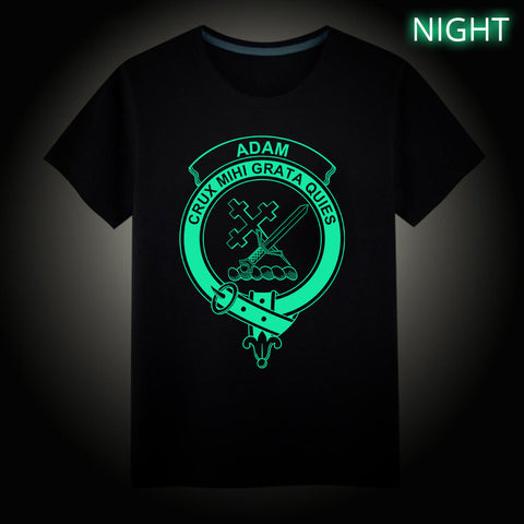 Adam Crest Scottish Clan Luminous T shirt