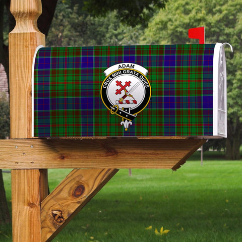 Image of ScottishClan Adam Tartan Crest Scotland Mailbox A91