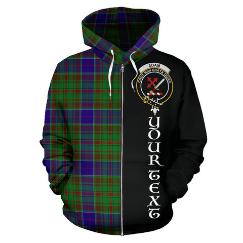 (Custom your text) Adam Tartan Hoodie Half Of Me TH8