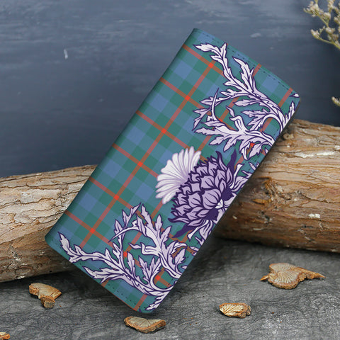 Agnew Ancient Tartan Wallet Women's Leather Thistle A91