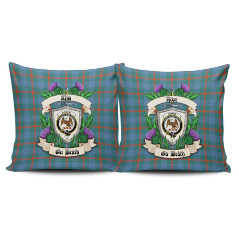Agnew Ancient Crest Tartan Pillow Cover Thistle (Set of two) A91 | Home Set