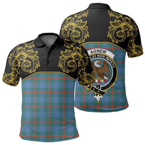Image of Agnew Ancient Tartan Clan Crest Polo Shirt - Empire I - HJT4