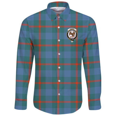 Image of Agnew Ancient Tartan Clan Long Sleeve Button Shirt | Scottish Clan