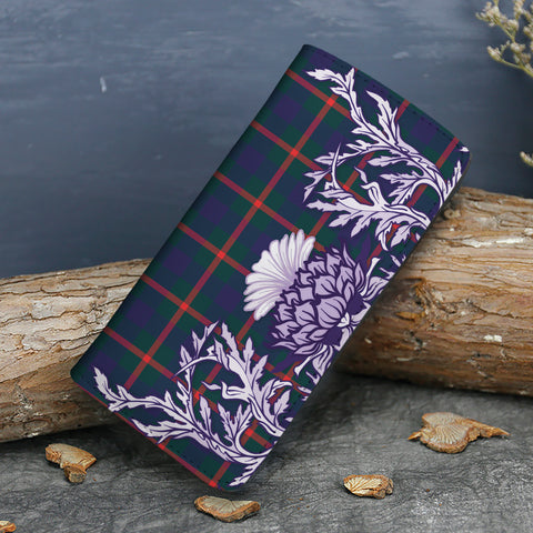 Image of Agnew Modern Tartan Wallet Women's Leather Thistle A91
