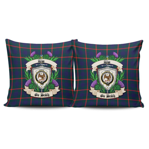 Agnew Modern Crest Tartan Pillow Cover Thistle (Set of two) A91 | Home Set