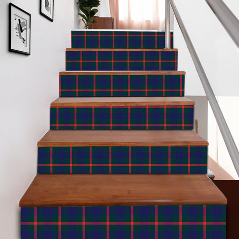 Image of Scottishshop Tartan Stair Stickers - Agnew Modern Stair Stickers A91