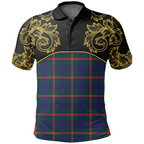 Agnew Modern Tartan Clan Crest Polo Shirt - Empire I - HJT4 - Scottish Clans Store - Tartan Clans Clothing - Scottish Tartan Shopping - Clans Crest - Shopping In scottishclans - Polo Shirt For You