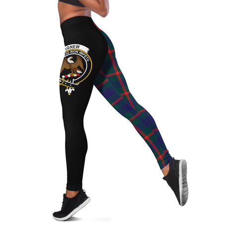 Agnew Modern Crest Tartan Leggings | Over 500 Tartans | Special Custom Design
