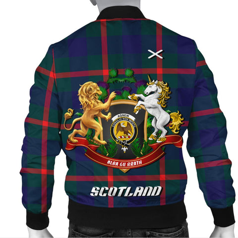 Image of Agnew Modern | Tartan Bomber Jacket | Scottish Jacket | Scotland Clothing