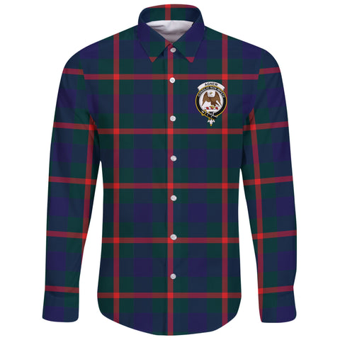 Image of Agnew Modern Tartan Clan Long Sleeve Button Shirt | Scottish Clan