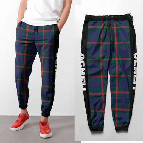 Agnew - Tartan All Over Print Sweatpants - BN