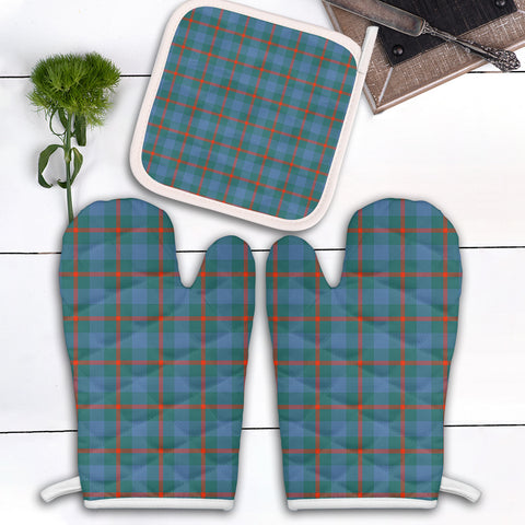 Agnew Ancient Clan Tartan Scotland Oven Mitt And Pot-Holder (Set Of Two)