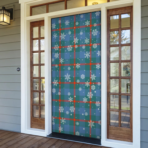 Image of Agnew Ancient Christmas Tartan Door Sock Cover