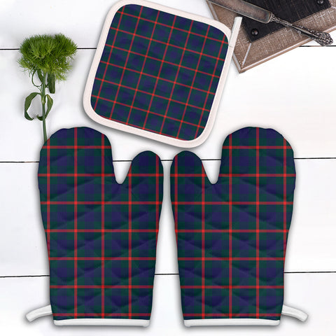 Image of Agnew Modern Clan Tartan Scotland Oven Mitt And Pot-Holder (Set Of Two)