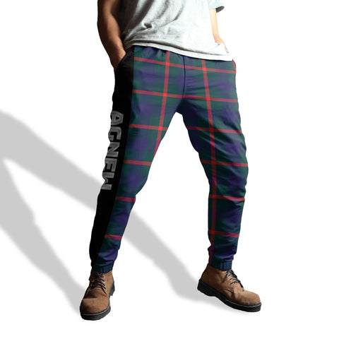 Image of Agnew - Tartan All Over Print Sweatpants - BN