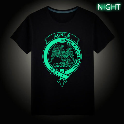 Agnew Crest Scottish Clan Luminous T shirt