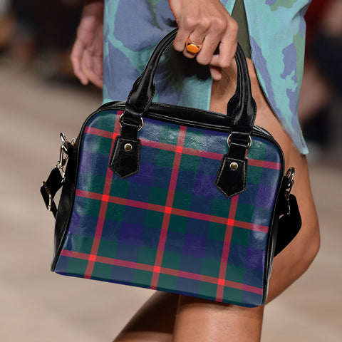 Agnew Modern Tartan Shoulder Handbag for Women | Hot Sale | Scottish Clans