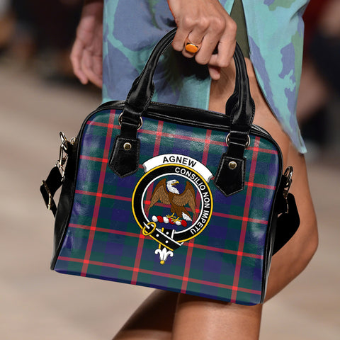 Agnew Modern Tartan Clan Shoulder Handbag | Special Custom Design