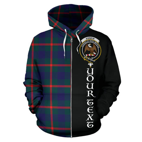 (Custom your text) Agnew Modern Tartan Hoodie Half Of Me TH8