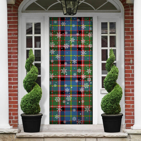 Aikenhead Christmas Tartan Door Sock Cover